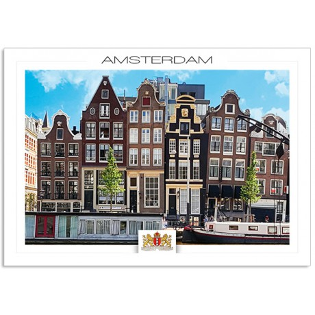 Amsterdam a19-010 Houses near the river Amstel