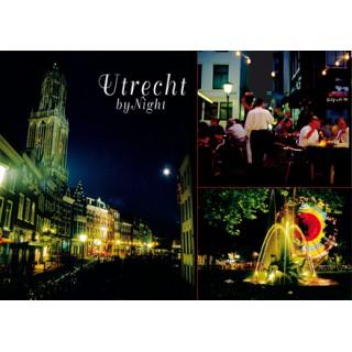 Utrecht 09 dom terrassen bij nacht