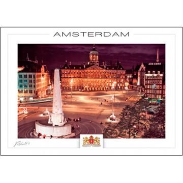 Amsterdam A100 Royal palace at evening