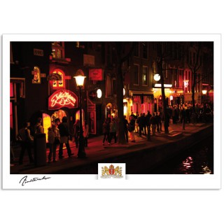 Amsterdam a17-002 postcard  red light district