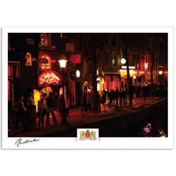 Amsterdam a17-002 postcard  red light district