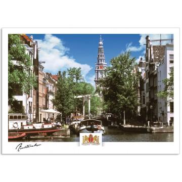 Amsterdam a17-004 Amstel Staalmeesters bridge Groenburgwal South church