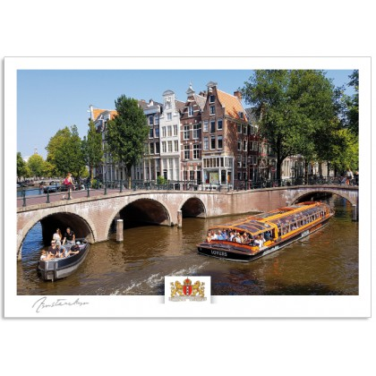 Amsterdam a17-015 Keizersgracht canal houses boats