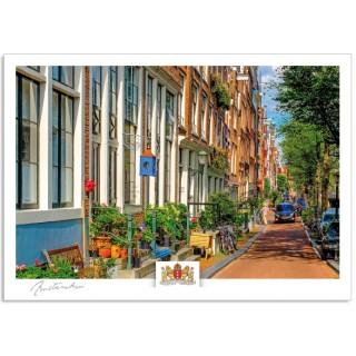 Amsterdam a17-018 Grachten huizen