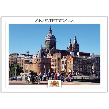 Amsterdam a19-006 Sint Nicolaas church Schreiers tower