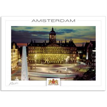 Amsterdam A200 Royal palace at evening