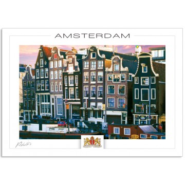 Amsterdam A800 Amstel canal houses