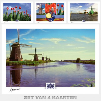 Postcards Holand. Set with 4 postcards