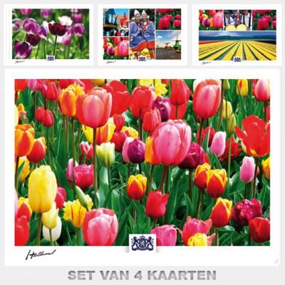 Postcards Holand. Set B with 4 postcards