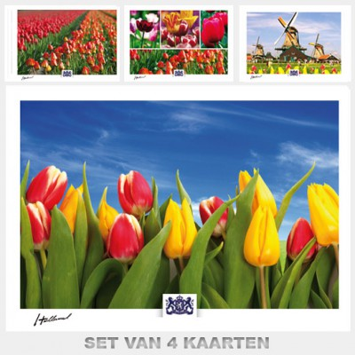 Postcards Holand. Set C with 4 postcards