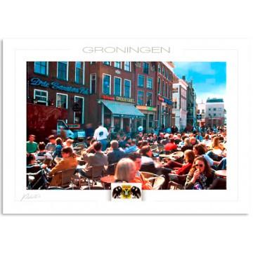 Groningen terrasses near the Grote Markt