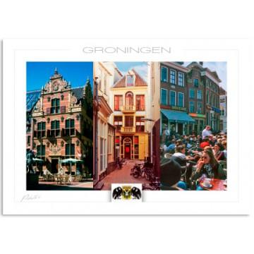 Groningen Goudkantoor terrasses Grote Markt
