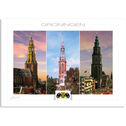 Groningen Der aa-church Sint Josef church Martini church