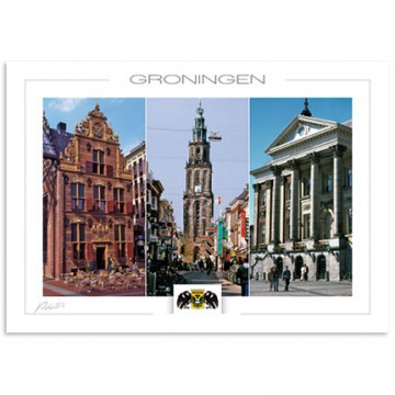 Groningen with Gold office Martini tower and City hall