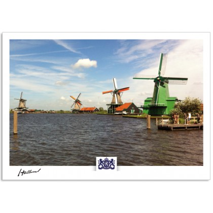 h17-009 four windmills Zaanse Schans