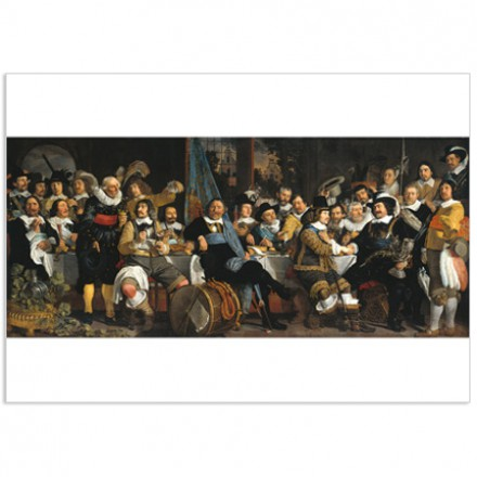 Art500 postcard Banquet of the Amsterdam civic guard