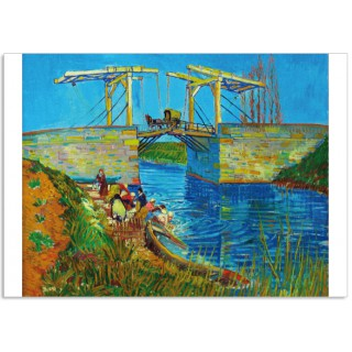 Art15 postcard Bridge at Arles Vincent van Gogh