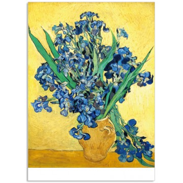 Art19 postcard Irises Vincent van Gogh