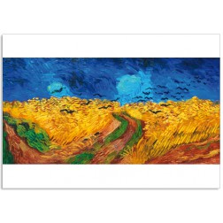 Art11 postcard Wheatfield with crows Vincent van Gogh