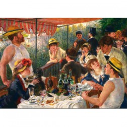 RenArt01 Postcard Lunch of the rowers