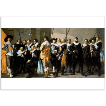 Art300 postcard The Meagre Company Frans Hals