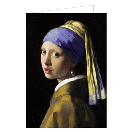 Art201W greeting card Girl with a pearl earring Johannes Vermeer