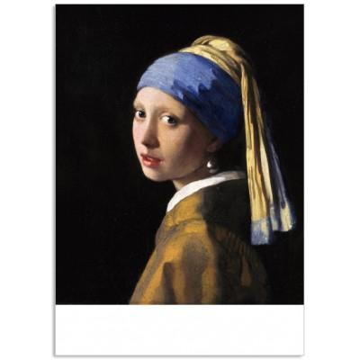 Art201 postcard Girl with a pearl earring Johannes Vermeer