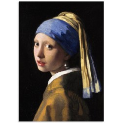 Art201 postcard Girl with a pearl earring Johannes Vermeer