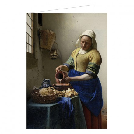 Art200W Double greeting card The Milkmaid Johannes Vermeer