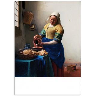Art200 postcard The Milkmaid Johannes Vermeer