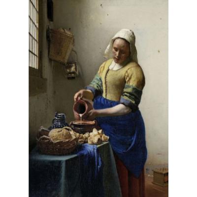 Art200W Double greeting card The Milkmaid Johannes Vermeer