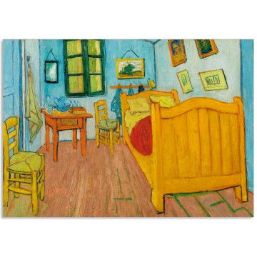 Art21cl postcard The bedroom Vincent van Gogh