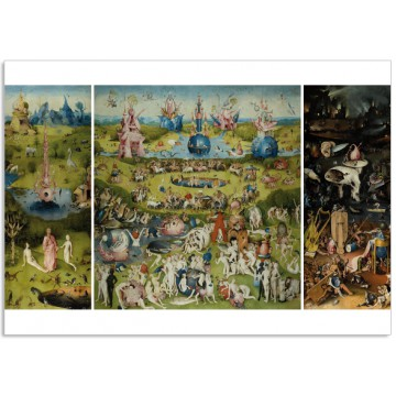 Art400 postcard The Garden of Earthly Delights Jheronimus Bosch 4 cards