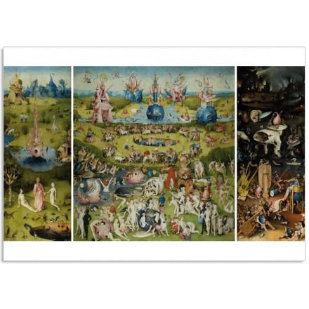 Art400 postcard The Garden of Earthly Delights Jheronimus Bosch 4 cards