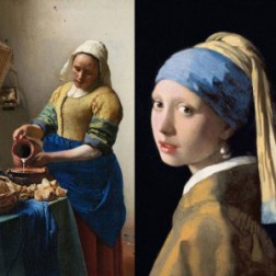 Poster The Milkmaid and Girl with the pearl earring Johannes Vermeer