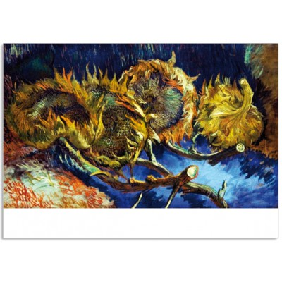 Art14 postcard Four sunflowers gone to seed Vincent van Gogh