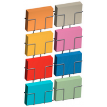 Wall rack 9 upright compartments