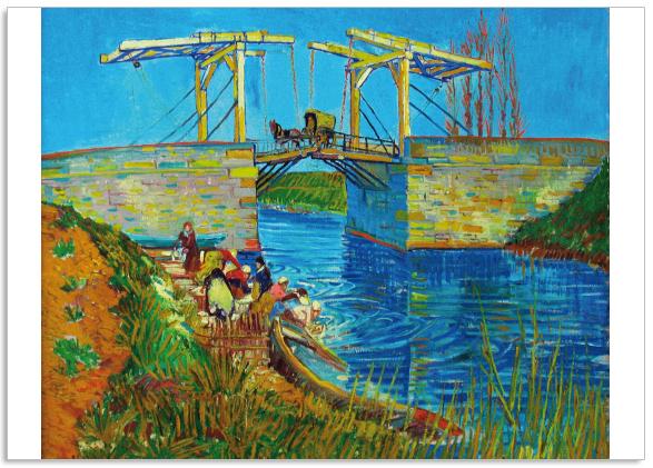 Ansichtkaart Vincent van Gogh Brug Arles