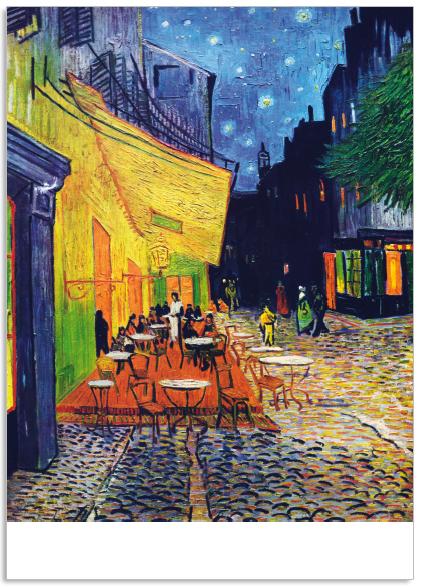 Ansichtkaart Vincent van Gogh Cafe terras bij nacht