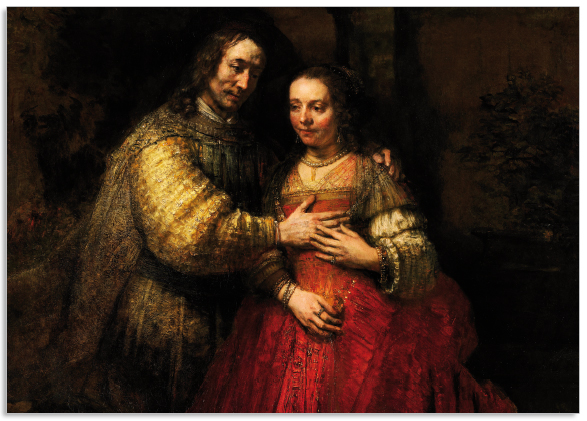 Ansichtkaart Rembrandt Het Joodse bruidje