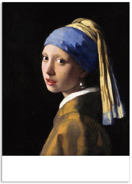 Ansichtkaart Het meisje met de paarlen oorring Johannes Vermeer