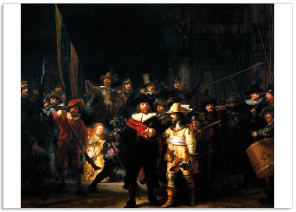 Ansichtkaart De Nachtwacht Rembrandt